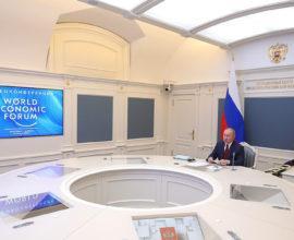 Davos 2021 Putin at the table